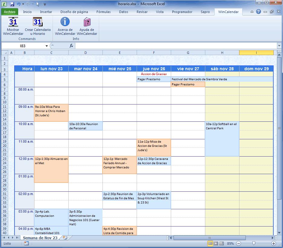calendario vacaciones empleados 2018 excel